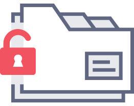 Unlocked folders icon